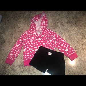 Girls 3T set - hoodie and shorts